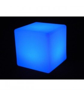 cubo asiento decor LED