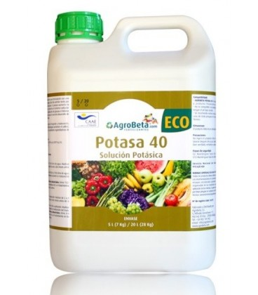 fertilizante foliar ecológico potasa 40 eco