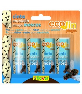 cinta encolada anti moscas ecofin flower