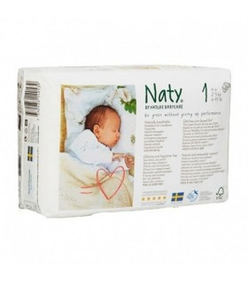 pañal biodegradable 1 a 5 kg Naty 26 unidades