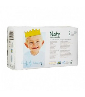 pañal biodegradable 3 a 6 kg Naty 34 unidades