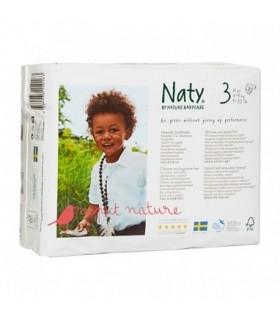 pañal biodegradable 4 a 9 kg Naty 31 unidades